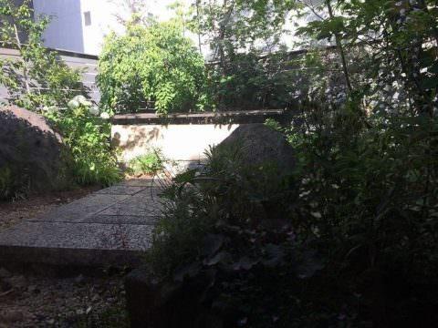 つぼ市製茶本舗堺本館の裏庭