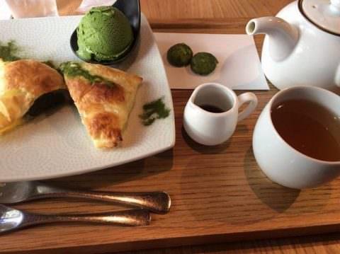 つぼ市製茶本舗 抹茶パイ、抹茶アイス