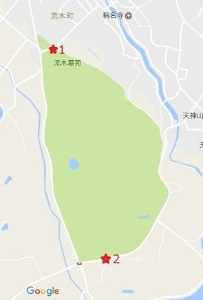 流木の公演墓地の地図画像
